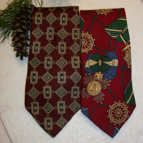 Tommy Hilfiger Other - Lot of 2 Tommy Hilfiger Mens Ties 100% Silk